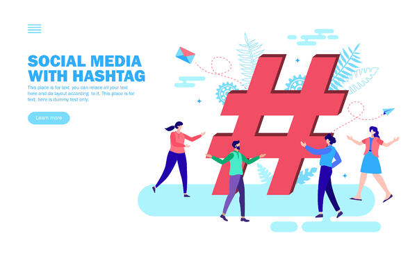 people enjoying around hashtags and social media trends