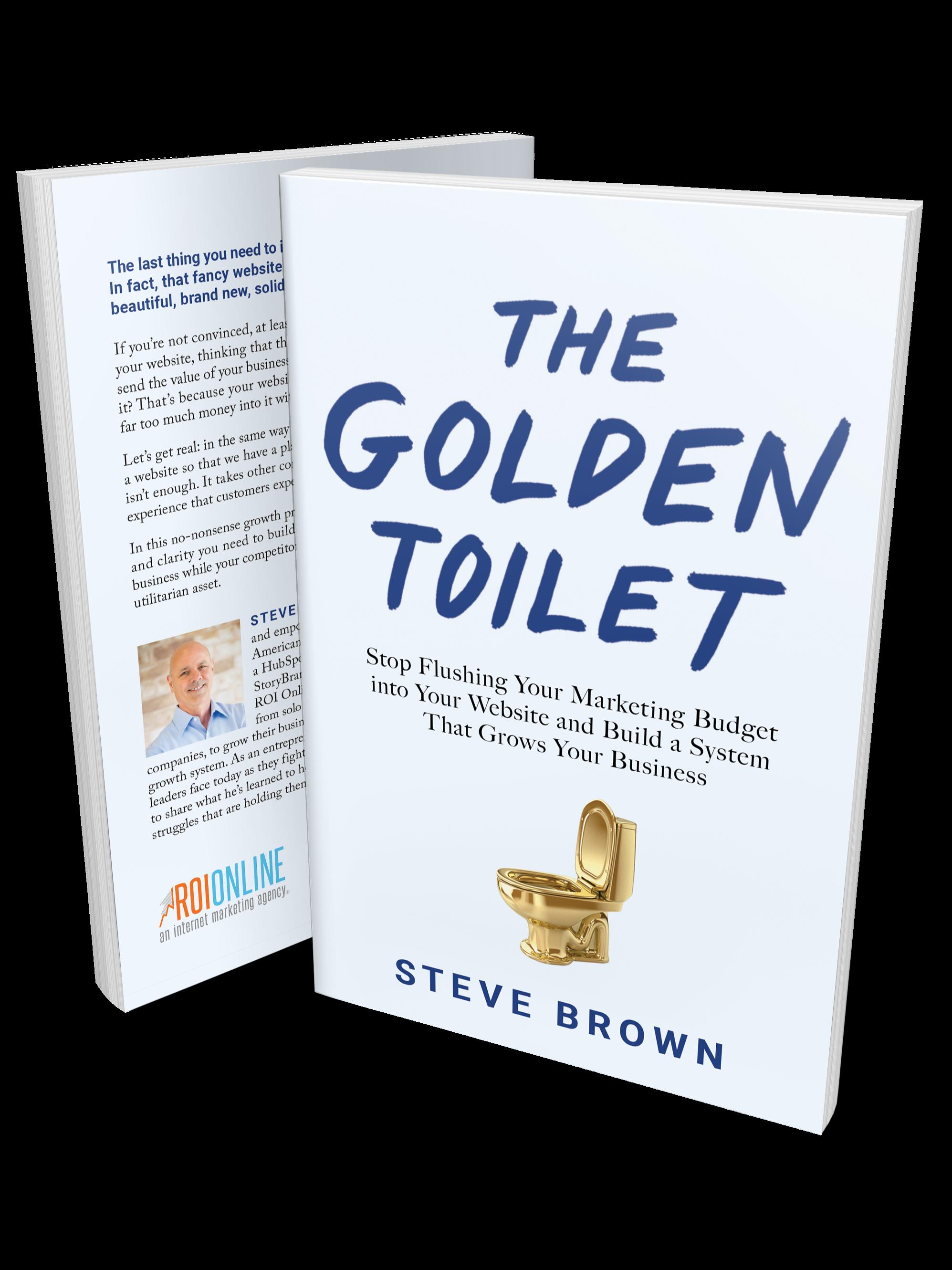 Golden Toilet Standing Paperback Clone