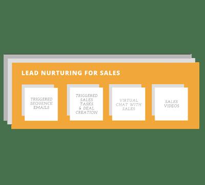 Lead nurturing for sales snap shot