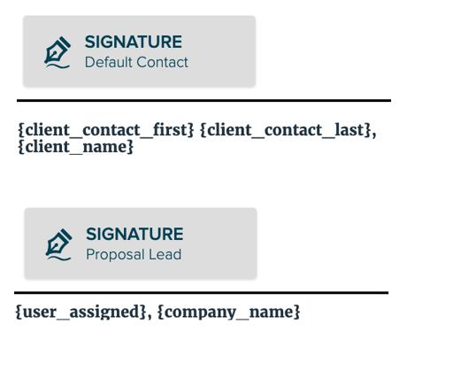 Proposify e-signature screen shot