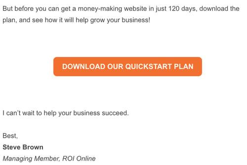 QuickStart email screen shot email 4