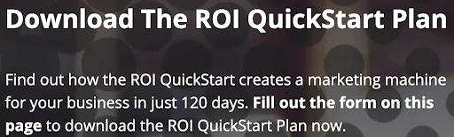 QuickStart landing page headliner
