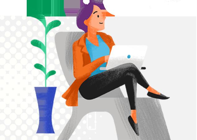 Women sitting at laptop