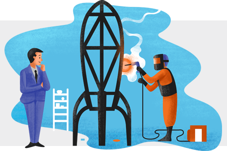 Two-men-welding-a-rocket-together-illustration