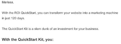 ROI QuickStart out reach email 1