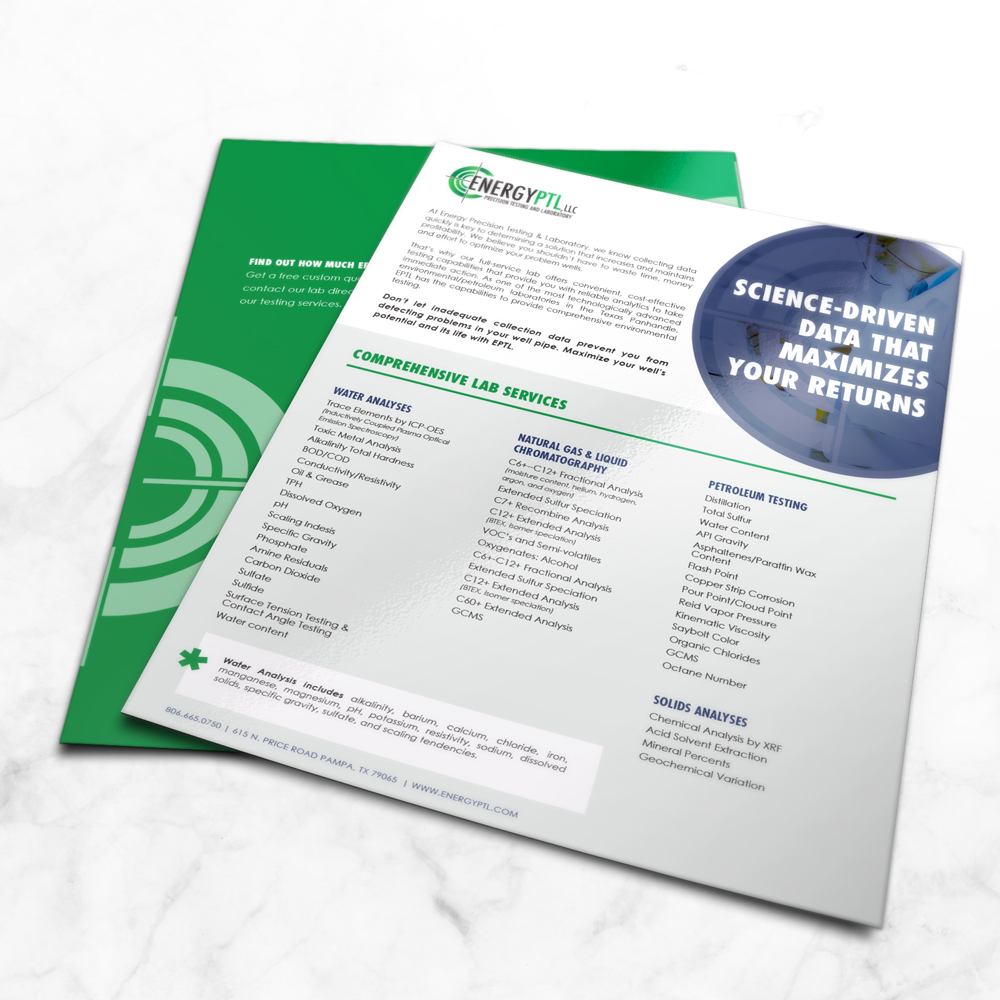 EPTL Sales Flyer - Print Materials - Design by ROI Online Graphic