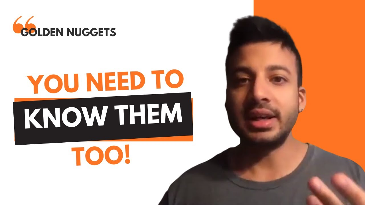 podcast thumbnail with orange and white back ground orange and white lettering and cutout of a brown man to the right