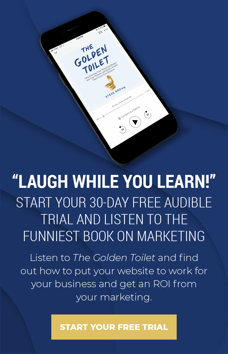 Golden Toilet Promo - CTA For Blog Template - Funniest - Audible
