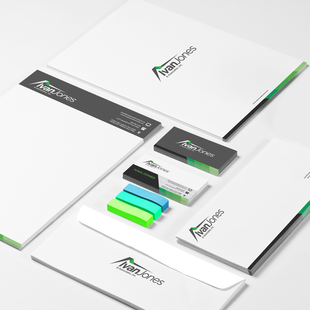 Identity Asset Design: Business Card, Letter Head, Envelope and Folder Design by ROI Online Graphic