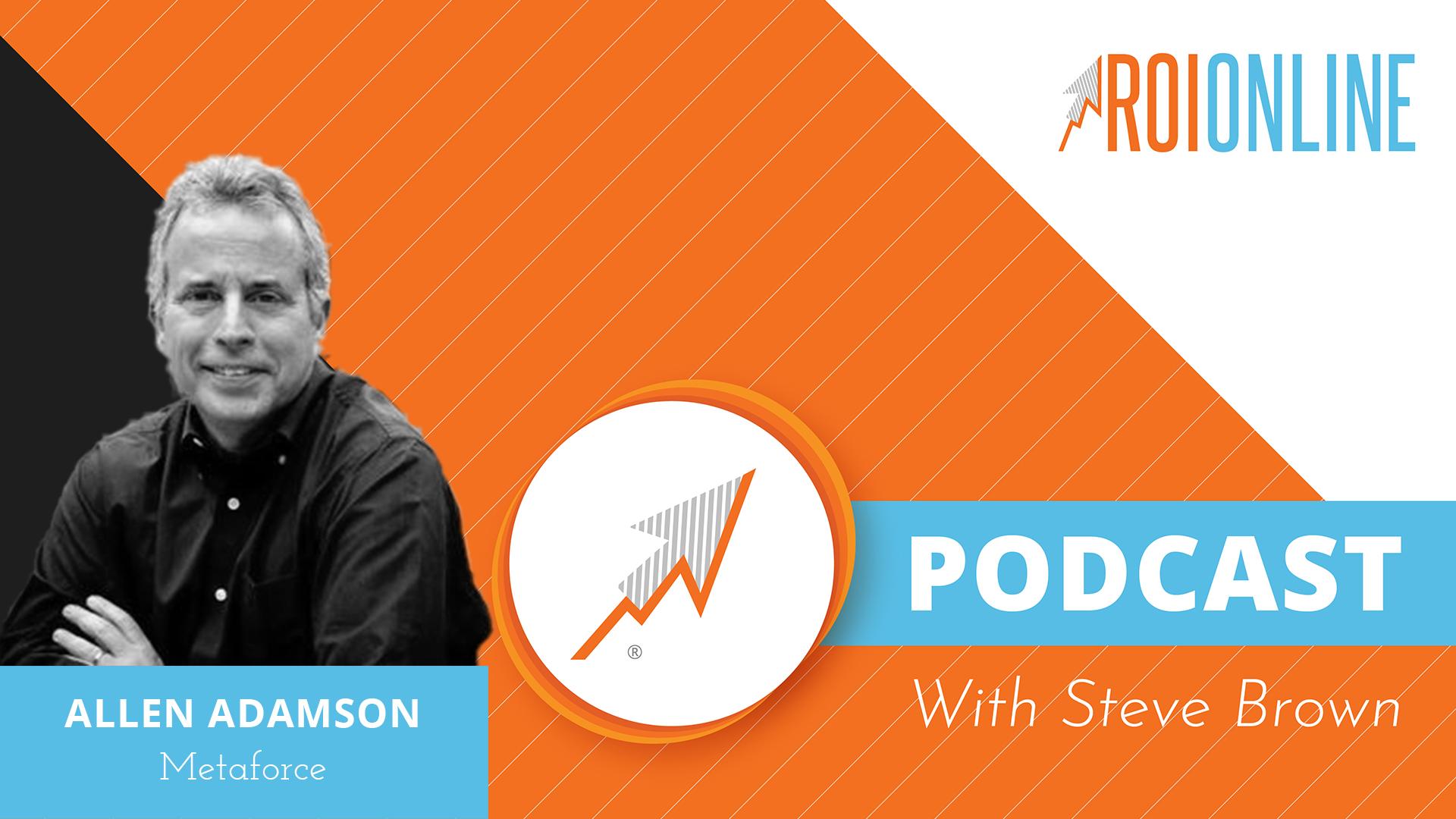 ROI Online Podcast thumbnail graphic Allen Adamson