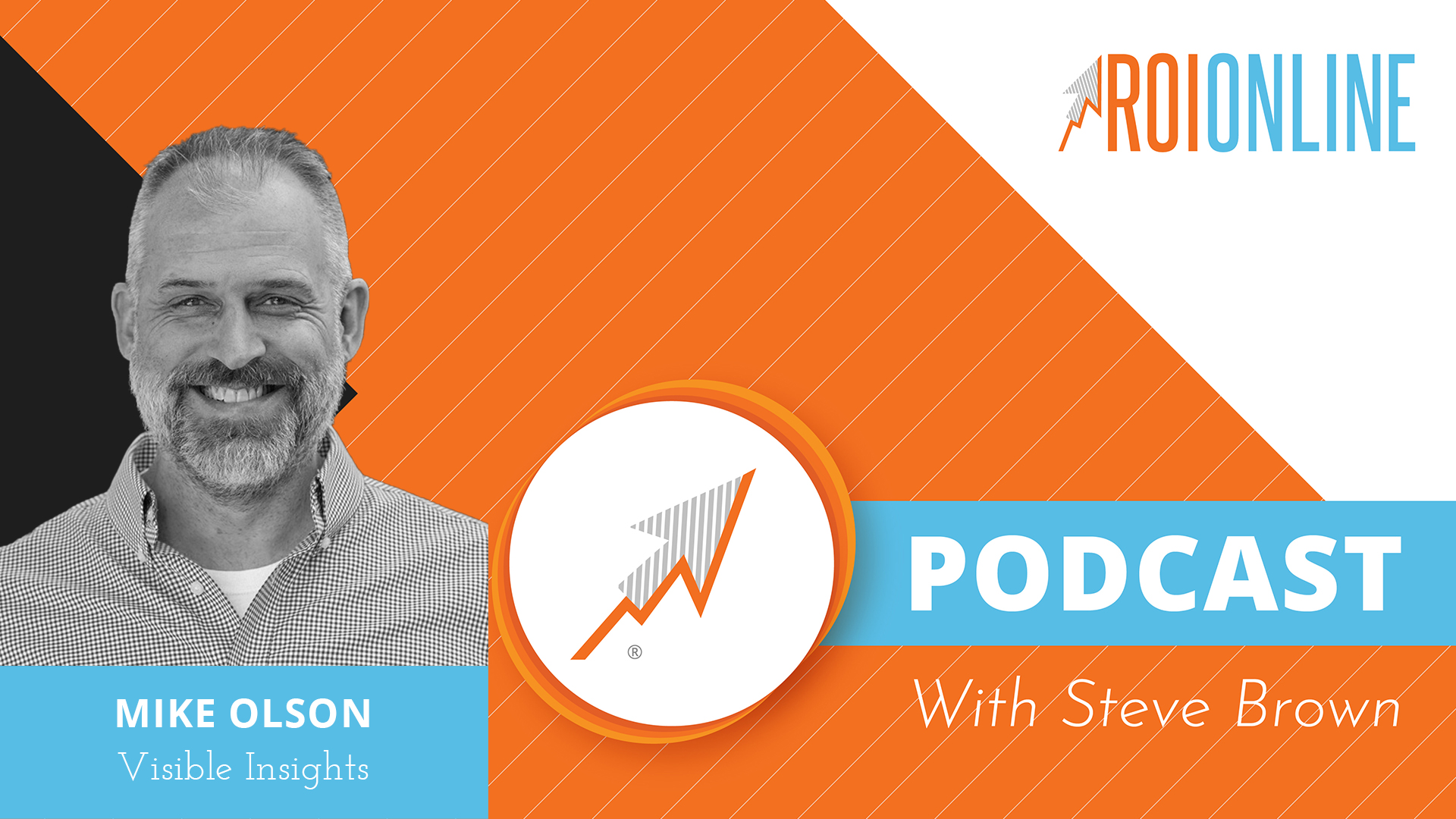ROI Online Podcast thumbnail graphic Mike Olson