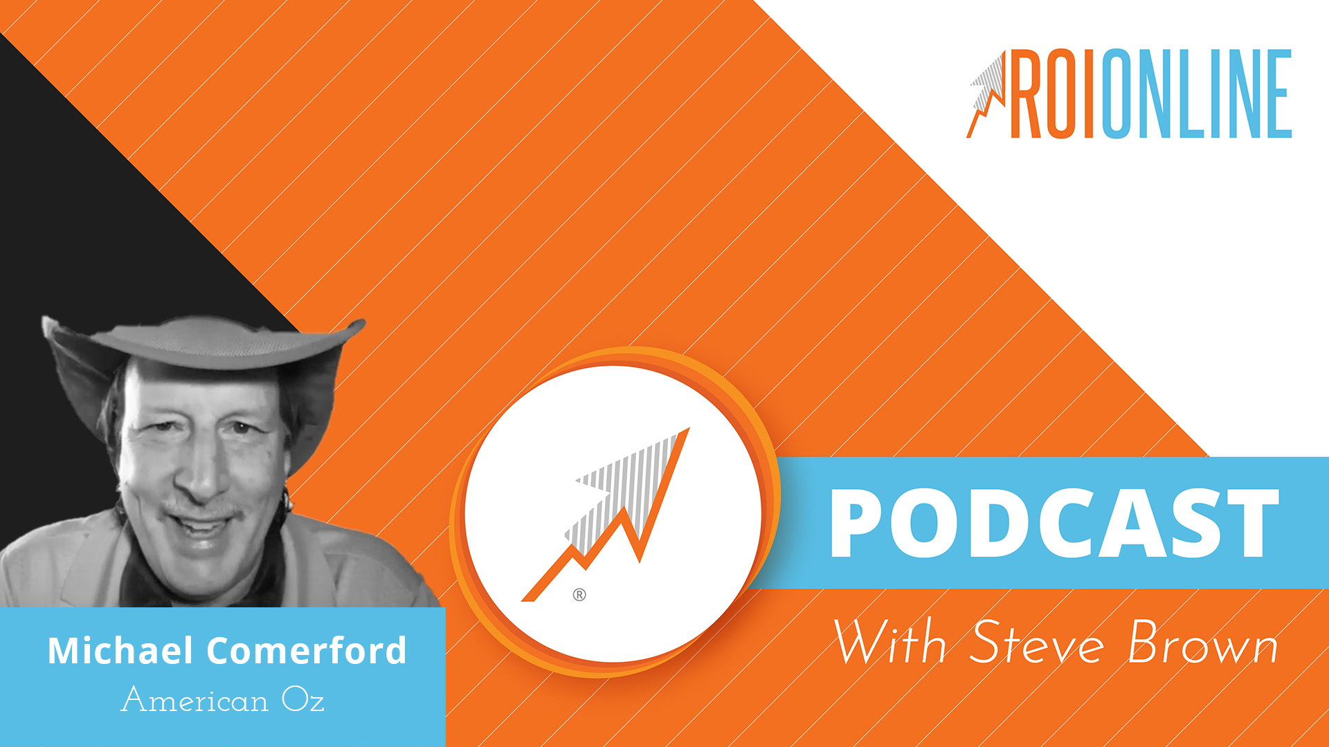 ROI Online Podcast thumbnail graphic Michael Sean Comerford