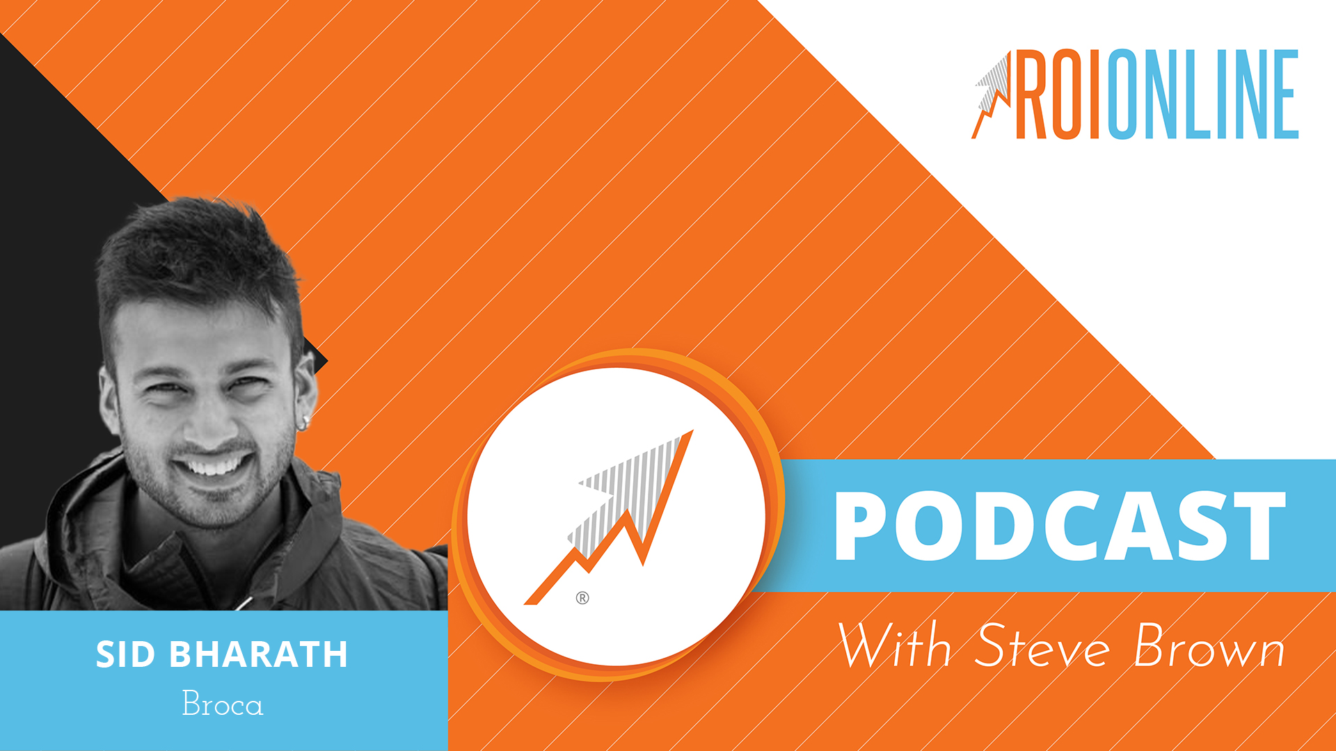 ROI Online Podcast thumbnail graphic Sid Bharath