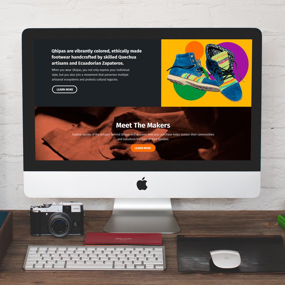 QHIPAS What You Wear Matters  Website Design Graphic