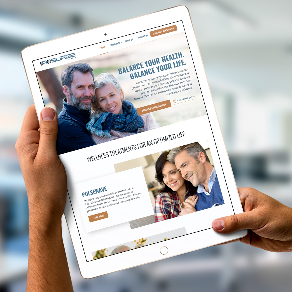 The Resurge Clinic - Website Redesign and Content Creation done by ROI Online Graphic