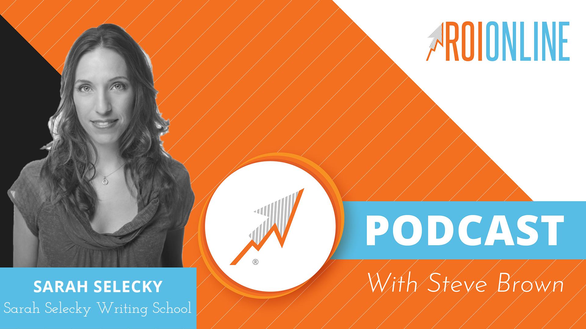 Sarah Selecky ROI Online podcast thumbnail