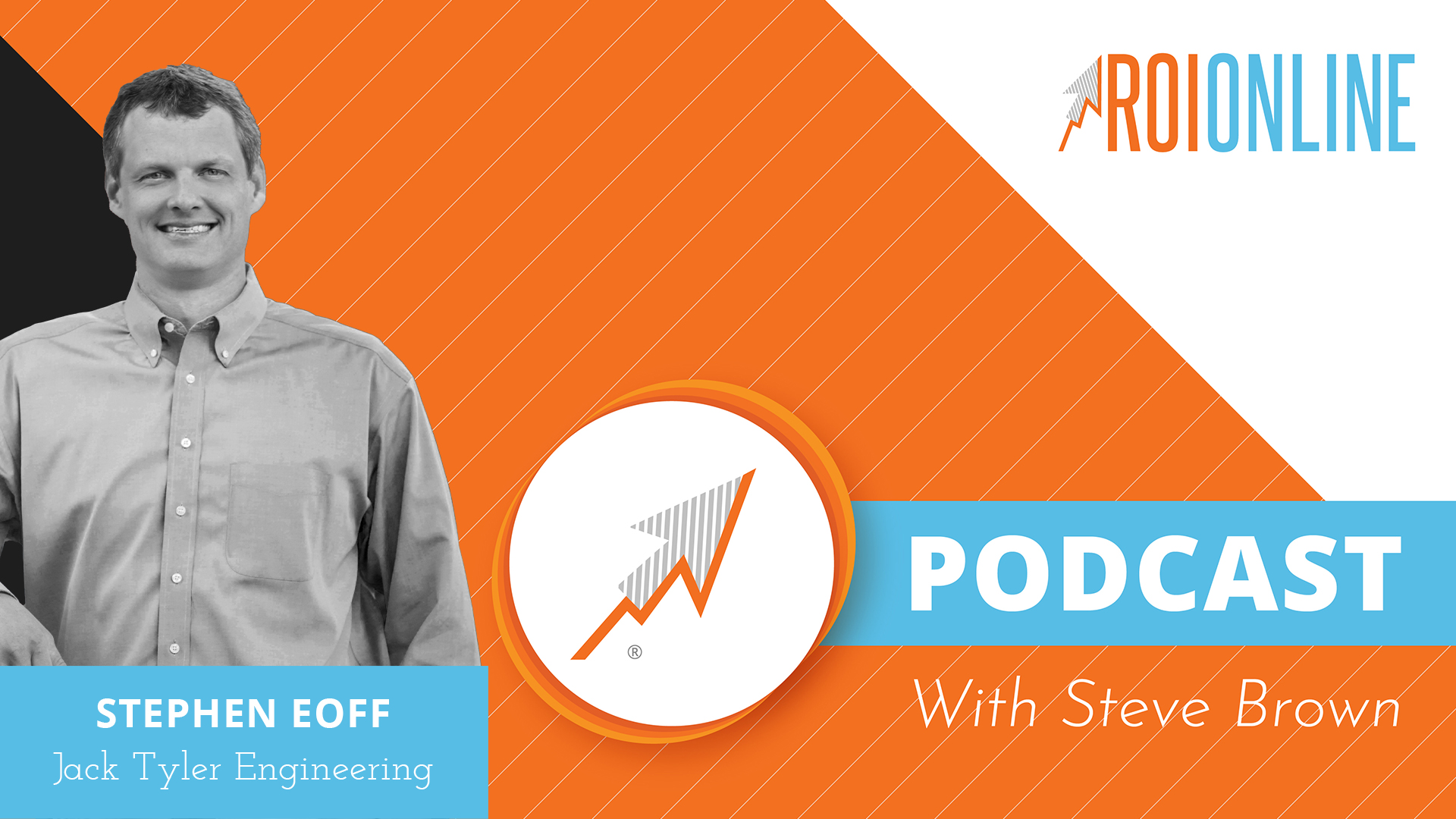 The ROI Online podcast graphic of Stephen Eoff