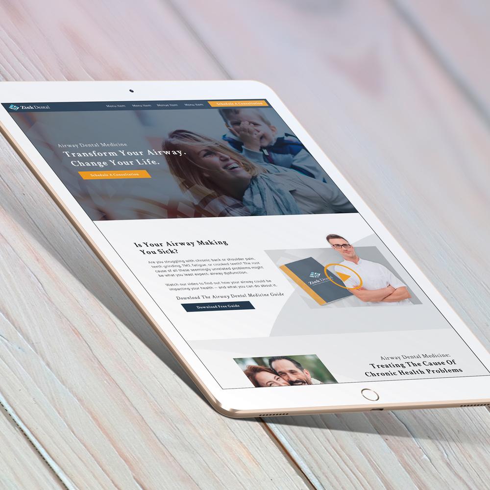 Zink Dental - Website Design and Content Creation Graphic