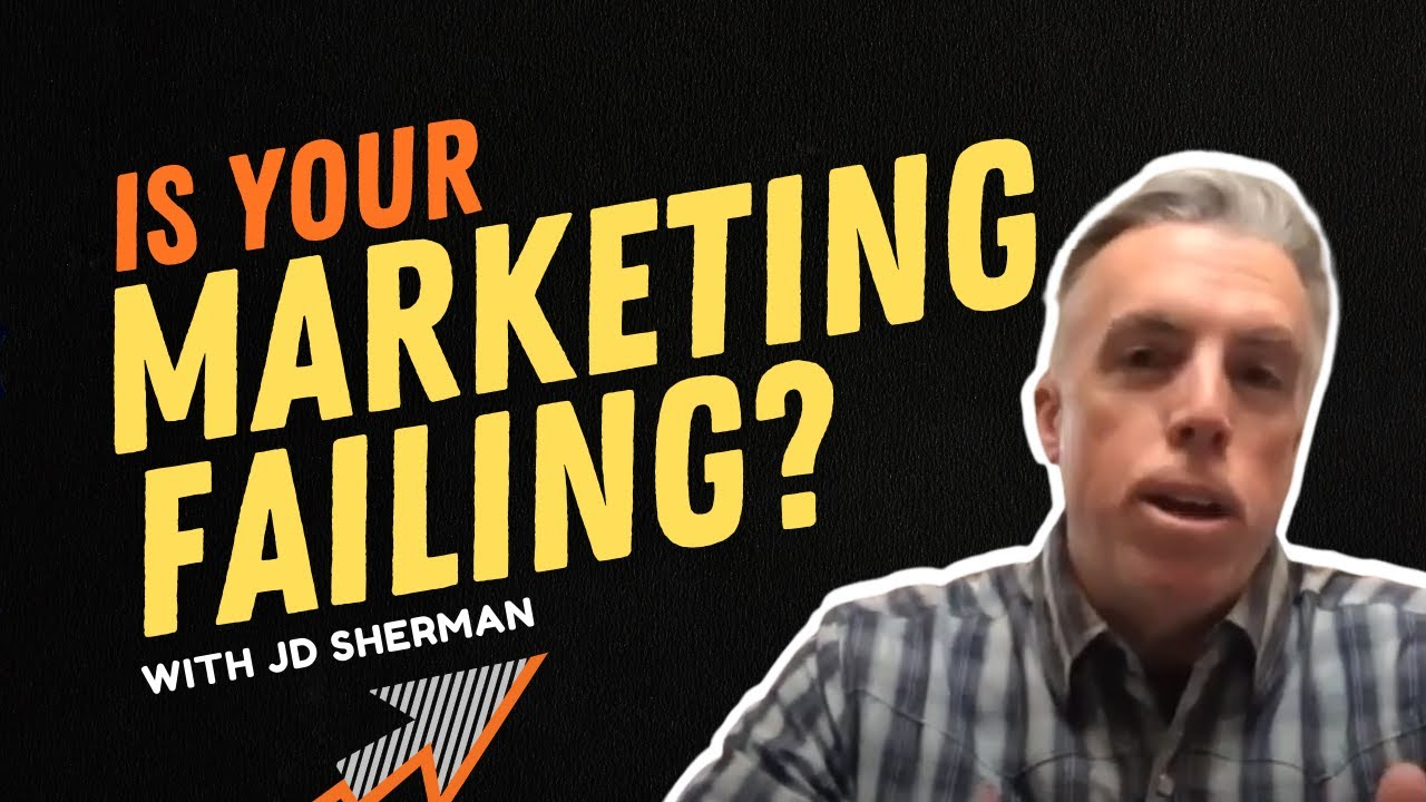 ROI Online podcast thumbnail on black background with jd sherman